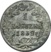 1 kreuzer Bernhard II – revers