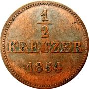 ½ Kreuzer - Bernhard II – revers