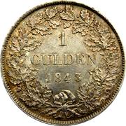 1 gulden Bernard II – revers