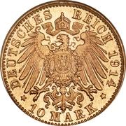 10 Mark - Georg II – revers