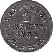 1 kreuzer Bernhard II. – revers