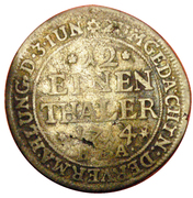 1/12 thaler (Marriage) – revers