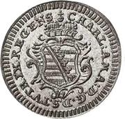 1 kreuzer August Friedrich Karl – avers