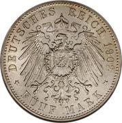 5 Mark - Georg II – revers