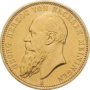 20 Mark - Georg II – avers