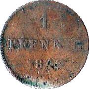 1 Pfennig - Bernhard II – revers