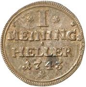 1 heller Friedrich Wilhelm – revers