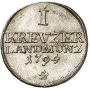 1 Kreuzer - Georg I. Friedrich Carl – revers