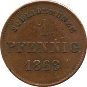 1 Pfennig - Georg II – revers