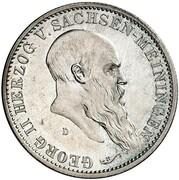 2 mark Georg II – avers