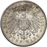 5 mark Georg II – revers