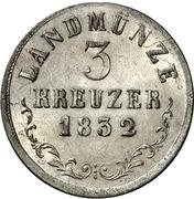 3 Kreuzer - Bernhard II – revers