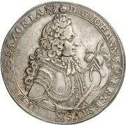 1 thaler Johann Ernst VIII – avers