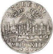 1 thaler Johann Ernst VIII – revers