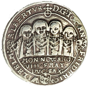 ½ thaler Johann Ernst et ses huit frères (Achtbrüderhalbtaler) – avers