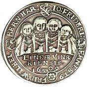 ½ thaler Johann Ernst et ses huit frères (Achtbrüderhalbtaler) – revers