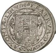 2 gulden Johann Ernst IV et ces 6 frères – revers