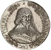 1¼ thaler Wilhelm et ces deux frères (Mort de Bernhard) – avers