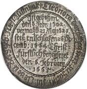 1 Thaler - Johann Ernst (mort de Eleonora Dorothea) – avers