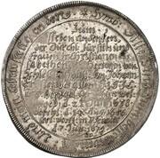 1 thaler Johann Ernst (mort de Christiane Elisabeth) – revers