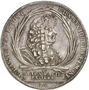 1 thaler Johann Ernst (mort de Johann Ernst) – avers