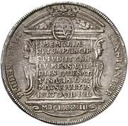 1 thaler Johann Ernst (mort de Johann Ernst) – revers