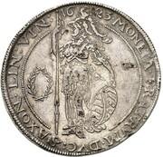 1 thaler Johann Ernst et ces 5 frères – avers