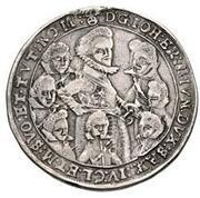 1 thaler Johann Ernst IV, Friedrich VII, Wilhelm IV, Albrecht I, Johann Friedrich IV, Ernst III, Friedrich Wilhelm et Bernhard – avers