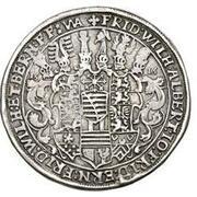1 thaler Johann Ernst IV, Friedrich VII, Wilhelm IV, Albrecht I, Johann Friedrich IV, Ernst III, Friedrich Wilhelm et Bernhard – revers
