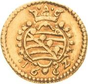 ¼ ducat Wilhelm IV – revers