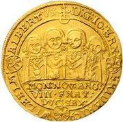 3 goldgulden Johann Ernst IV, Friedrich VII, Wilhelm IV, Albrecht I, Johann Friedrich IV, Ernst III, Friedrich Wilhelm et Bernhard – avers