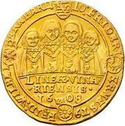 3 goldgulden Johann Ernst IV, Friedrich VII, Wilhelm IV, Albrecht I, Johann Friedrich IV, Ernst III, Friedrich Wilhelm et Bernhard – revers