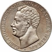 2 thaler / 3½ gulden - Carl Friedrich – avers