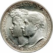 3 Mark - Wilhelm Ernst (second mariage du grand duc) – avers