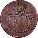 1 pfennig Friedrich III – avers