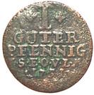 1 pfennig Friedrich III – revers
