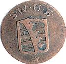 1 pfennig Karl August – avers