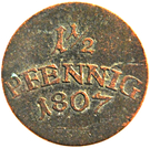 1½ Pfennig - Carl August – revers
