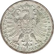 3 Mark - Wilhelm Ernst (grand-Duché) – revers