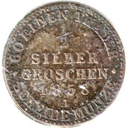 ½ Silber groschen - Carl Alexander – revers