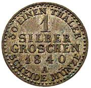 1 Silber groschen - Carl Friedrich – revers