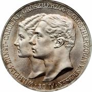 5 Mark - Wilhelm Ernst (mariage du duc) – avers