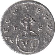 6 pfennig Ernst August Constantin – revers