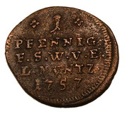 1 pfennig Ernst August II Constantine – revers