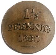1½ pfennig Carl Friedrich – revers