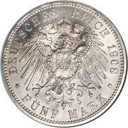 5 Mark - Wilhelm Ernst (350ème anniversaire de l'Université de Jena) – revers