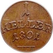 1 Heller - Carl August – revers