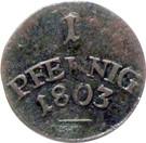 1 pfennig - Carl August – revers