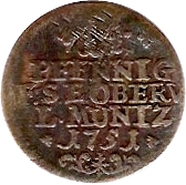 2 Pfennig - Friedrich III – revers