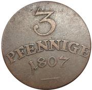 3 pfennig Carl August – revers